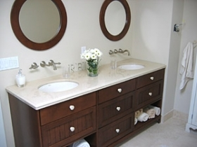 Double Sink Vanity Bathroom Renovation Burlington Oakville