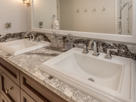 Double Square Sink Vanity