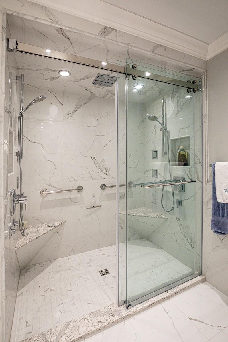 Glass Door Shower Bathroom Renovation Burlington Oakville