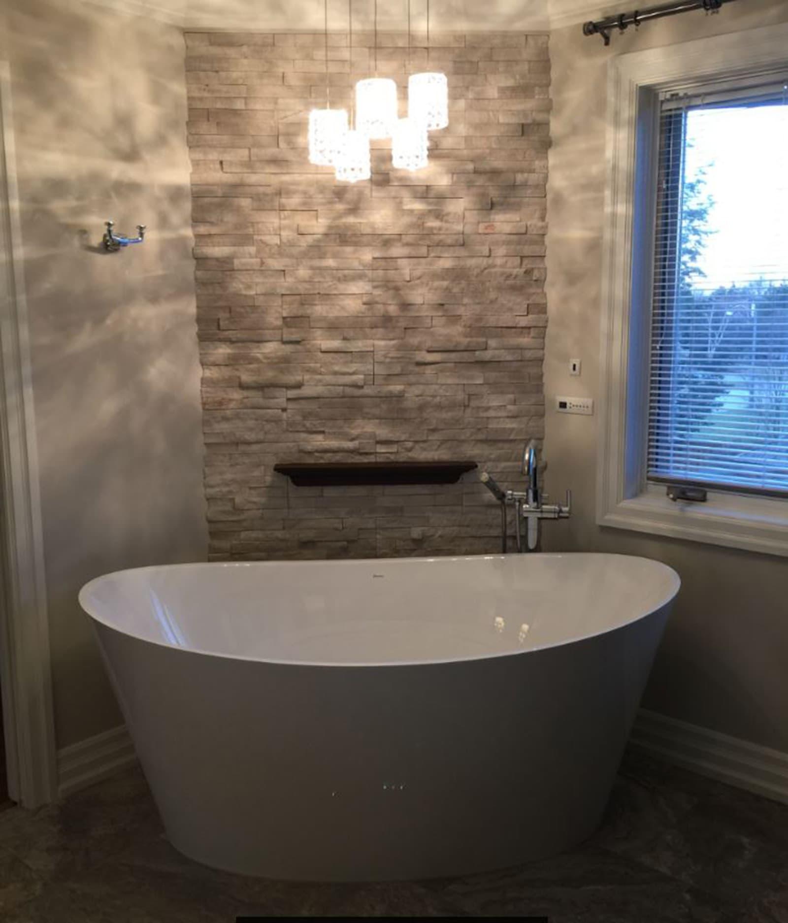 Stand alone tub Bathroom Renovation Burlington Oakville