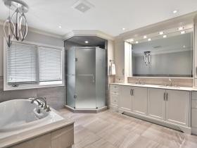 Bathroom Remodel with Glass Shower Doors Burlington Oakville