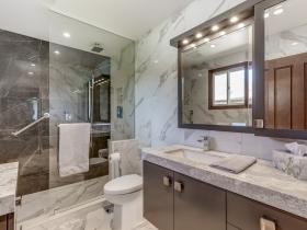 Modern Bathroom Renovation Burlington Oakville