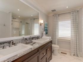 Double Sink Bathroom Renovation Burlington Oakville