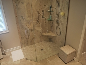 Walk-in Corner Glass Shower