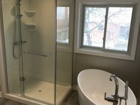 Glass Door Walk-In Shower
