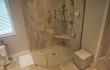Walk-in Corner Glass Shower