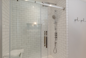 Remodel bathroom shower glass doors