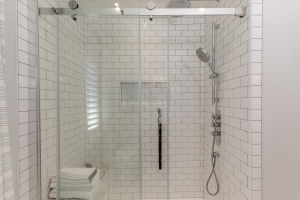 modern glass door shower Burlington Oakville